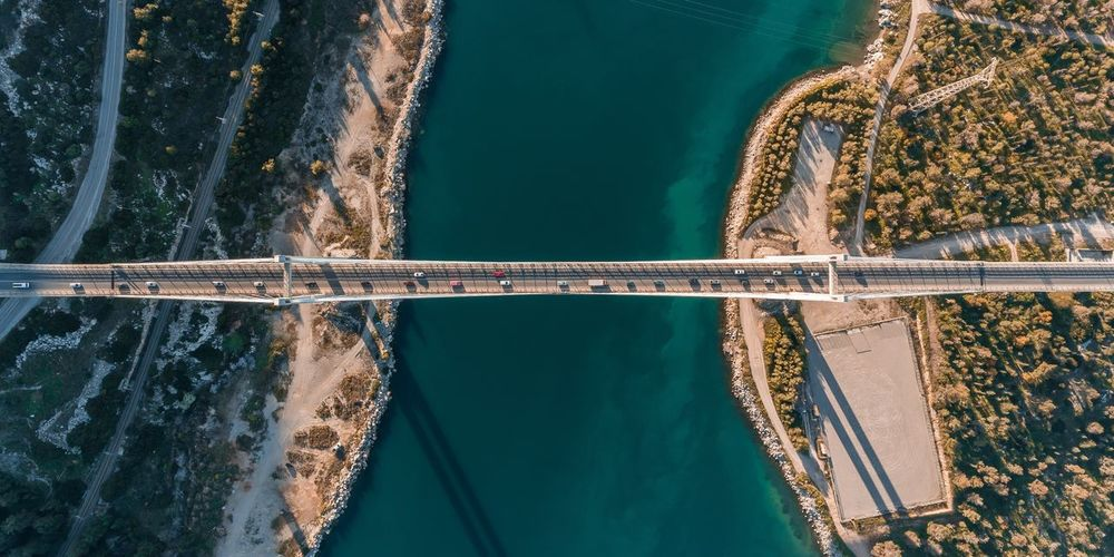 Bridge Dronephotography Drone  Water Nature No People Day Outdoors Sea Adventures In The City Beauty In Nature Summer Road Tripping