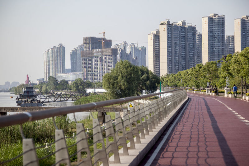 City City Life Cityscape Clear Sky Day Modern No People Outdoors River River Road Riverside Sky Skyscraper The City Light Tree Urban Skyline