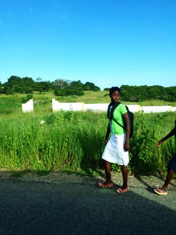 On The Way To School Mozambique Moçambique Africa African Beauty Green Color Village Life Showcase: February