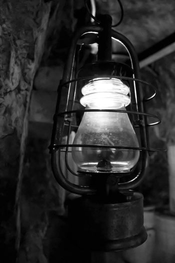 Old Lamp Lamp Past Time Switzerland History Canonphotography Black And White Blackandwhite Photography Tadaa Community Light And Shadow Cave Cold Inside Fortress Fortress Wall Rock