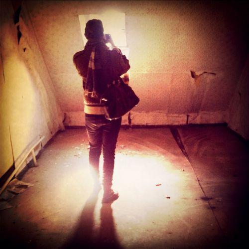 Woman in corridor