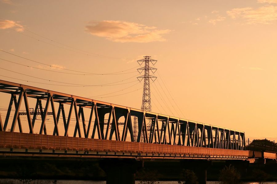 Early Morning Morning Morning Glow Bridge Tower Highvoltage Sky Skyporn Cloud River Tokyo Japan