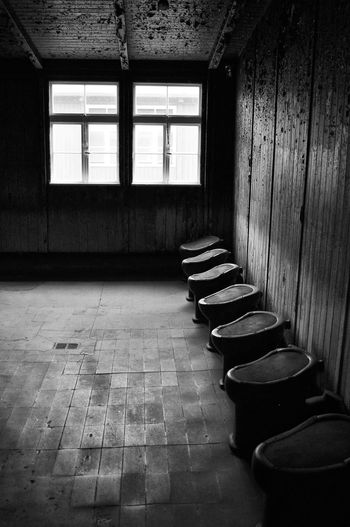 no privacy Bathroom Letrinas Campo De Concentracion Sanchenhausen Berlin, Germany  Second War Holocaust Remembrance Indoors  Window No People Architecture Day