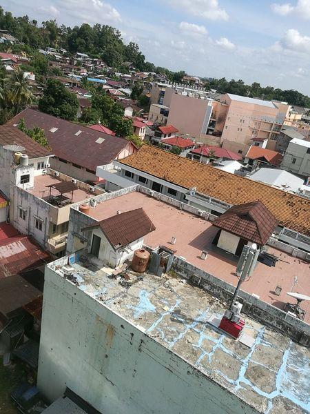 Balikpapan Sunlight High Angle View City Sky