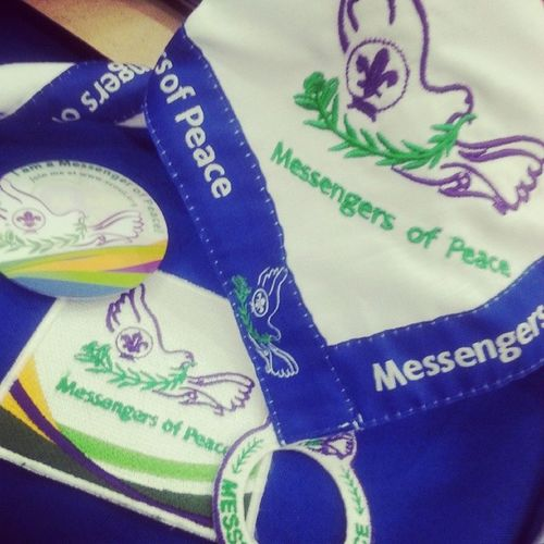 Im a scout and a messenger of PEACE;::)) Scout MOPph Scouting Gathering throwback necker patch pin RingBadge peace