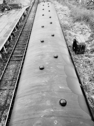 High Angle View Day Outdoors Nature No People Train Station Train - Vehicle Train Train Carriages Train Tracks Shunting Yard Railroad Station Platform Railroad Platform Public Transportation Railroad Station Rail Transportation Passenger Train Railroad Track
