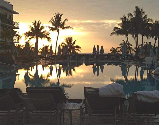 Miami Sunrise Miamibeach Sun Morning