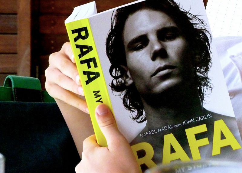 Academy Author Biography Close-up Enjoy Enjoying Life Getting Inspired Hand Information Learning Leisure Activity Life Is A Beach Lifestyles Mauritius One Of The Best Portrait Rafa  Rafael Nadal  Reading A Book SPAIN Sports Photography Tennis Text Wineandmore Yellow