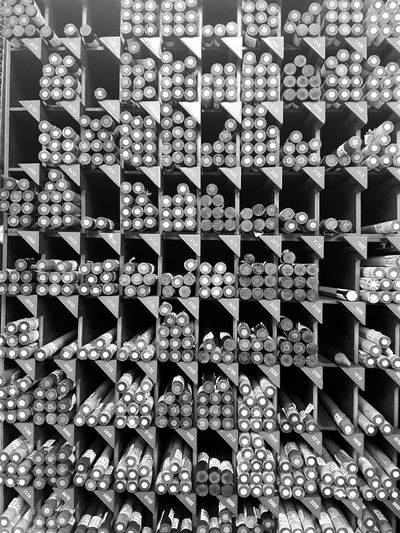 Black & White Full Frame Backgrounds Pattern No People Indoors  Day Close-up Arrangement Group Of Objects Art Supplies Art Products Colored Pencils Stationery