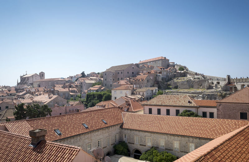 Dubrovnik, Croatia Old Town Architecture Building Exterior Clear Sky Roof Sky Tiled Roof  Town