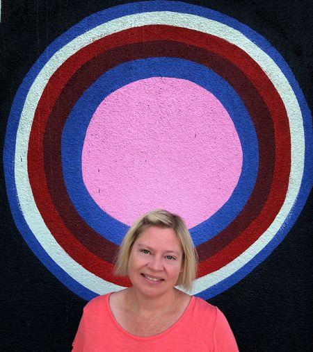 Spotlight Circle Geometric Shape Happiness Emotion Creativity Women Headshot Lifestyles