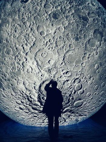 Luke Jerram in front of his moonLuke Jerram Museum Of The Moon Silhouette Moon Art ArtWork Artinstallation The Street Photographer - 2017 EyeEm Awards The Portraitist - 2017 EyeEm Awards HUAWEI Photo Award: After Dark