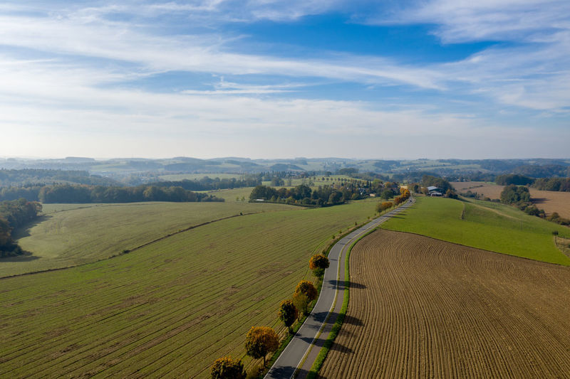 Drone  Aerial Aerial View Agriculture Cloud - Sky Day Drone Photography Dronephotography Environment Farm Field Grass High Angle View Land Landscape Nature No People Non-urban Scene Outdoors Rolling Landscape Rural Scene Scenics - Nature Sky Tranquil Scene Tranquility