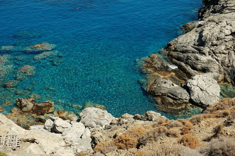 Ocean and rocks Amorgos Beach Beauty In Nature Day Greece Nature No People Outdoors Rock - Object Scenics Sea Water