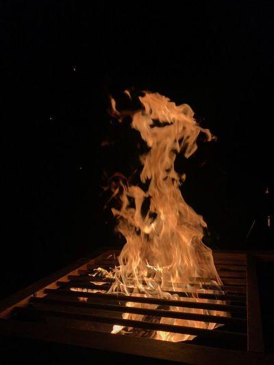 Burning No Filter, No Edit, Just Photography No People No Edit/no Filter Burning Flame Fire Fire - Natural Phenomenon Heat - Temperature Night #urbanana: The Urban Playground Nature Bonfire Dark Wood - Material Log Wood