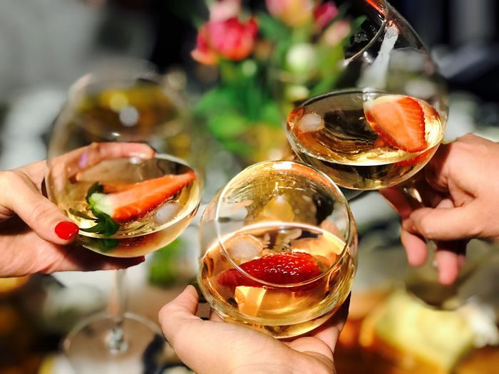 Hands with wine glasses Friends Wine Human Hand Human Body Part Drink Holding Real People Food And Drink Refreshment Alcohol Personal Perspective Drinking Glass Unrecognizable Person Wineglass Freshness Human Finger Lifestyles Leisure Activity Cocktail Focus On Foreground Women