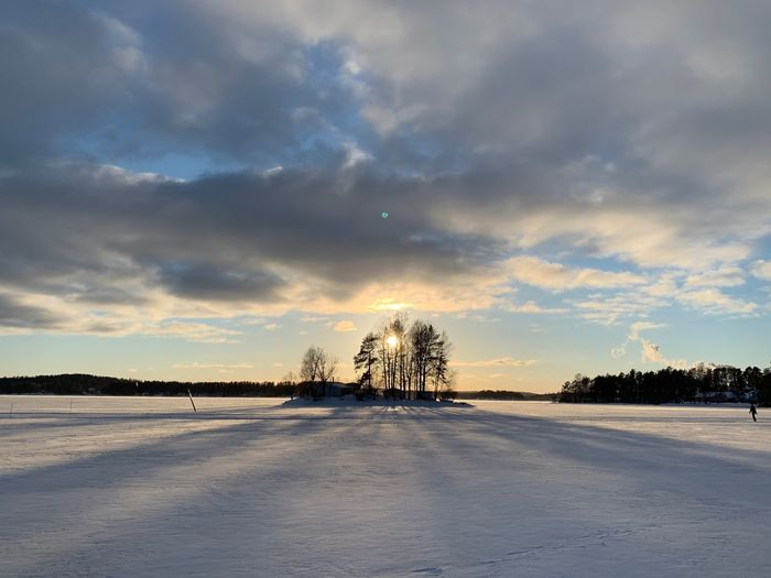 Winter Finnland Snow Winter Cloud - Sky Tree Cold Temperature Snow Plant Nature Beauty In Nature No People Environment Frozen Outdoors Tranquil Scene Landscape Scenics - Nature Tranquility Land Field Coniferous Tree