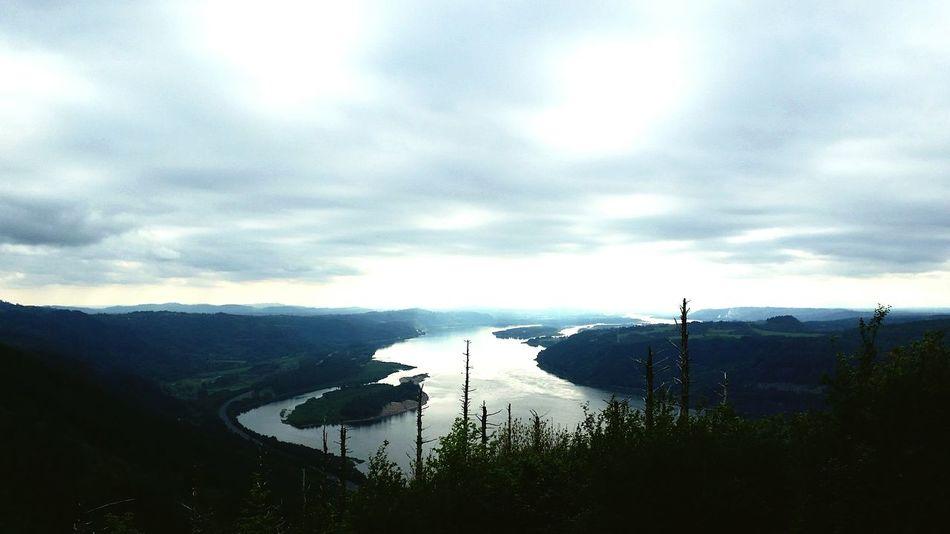 The Gorge Oregon Nature Forest River Elevation Afar