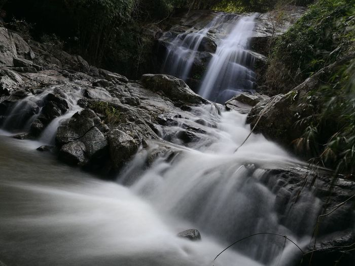 Waterfall Scenics Beauty In Nature Motion Nature Awe Blurred Motion Long Exposure Water Tree Travel Vacations Flowing Landscape Tourism Idyllic Travel Destinations Tropical Rainforest No People Forest First Eyeem Photo