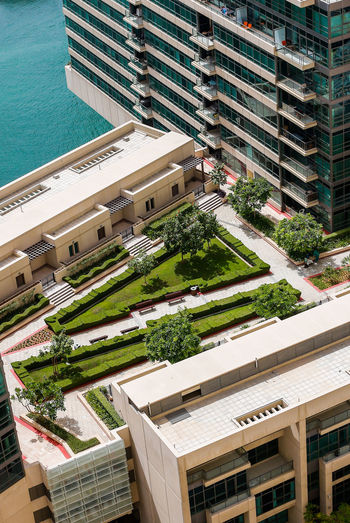 Marina Dubai Architecture Built Structure Building Exterior High Angle View Building City Residential District Day No People Roof Nature Pool Water Swimming Pool Outdoors Office Building Exterior Street Plant Modern Apartment Skyscraper