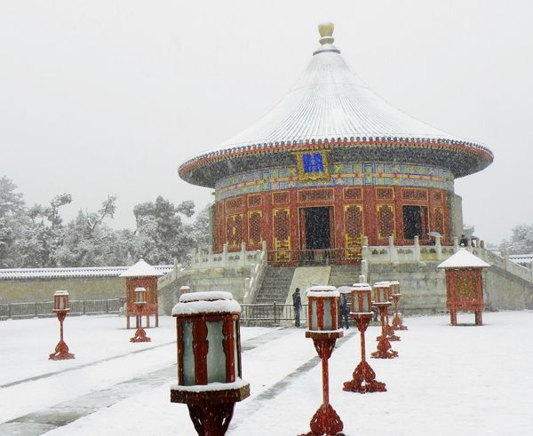 Architecture Beijing Beijing China Beijing Scenes BEIJING 北京 Beijing, China BEIJING北京CHINA中国BEAUTY Building Exterior Built Structure Clear Sky Cold Temperature Day Nature Outdoors Pechino Real People Sky Snow The Forbidden City  The Forbidden City Beijing Winter Breathing Space