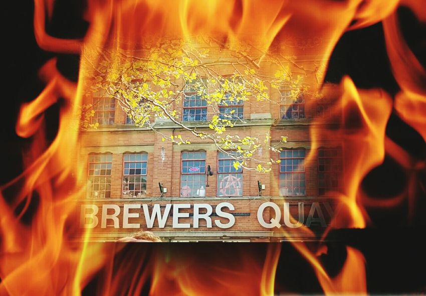 Burning Trick Photography Flames Fire Brewery Brewers Quay Dorset Weymouth Weymouth Dorset Unusal Scenes EyeEm Best Edits Outdoor Photography Building Building Exterior Old Buildings Converted Building BuildingPorn Buildingstyles