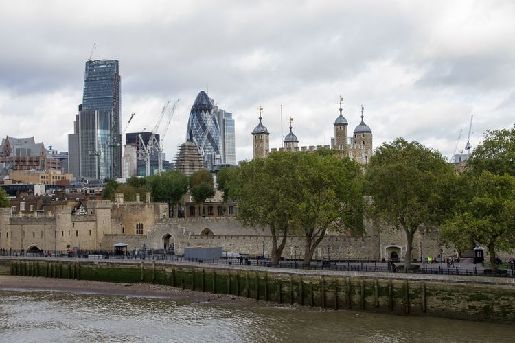 Gherkin and tower of london