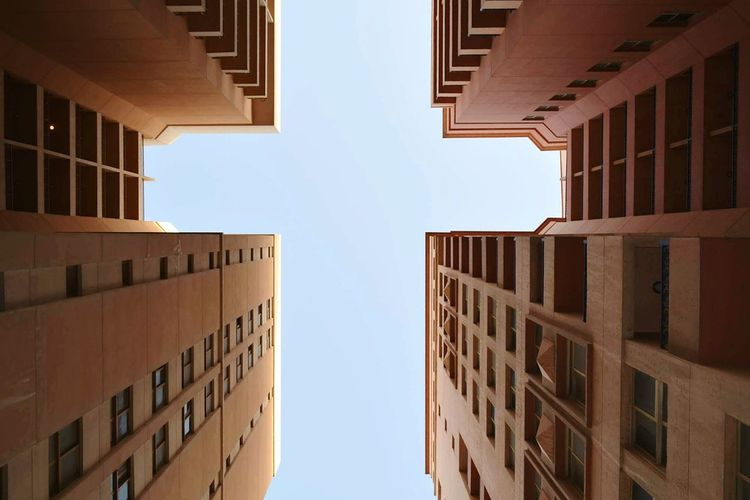 Lookup From My Point Of View Dubai Buildings Perspective