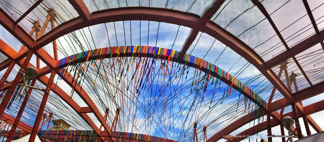 """Spring Crossing"" by Randy Walker on the Marshall Way Bridge at Canal Convergence in Scottsdale, AZ. Eyeem Phoenix Meetup2 Scottsdale Public Art"