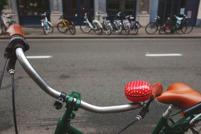 Hip to be chic BabelFishEye Bike Bike Bell Polkadots Polka Dots  Handlebar Retro Retro Style Retro Styled Vintage Bicycle Urban Photography Urban Life Simple Things In Life Eye4photography  Colours Perspective Close-up Composition In Color Travel Photography Leuven, Belgium Funny Gimme A Smile Fun Celebrate Your Ride