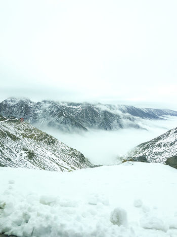 Transfagaraşan Snow ❄ White Mountains Foggy Day Nature Silence