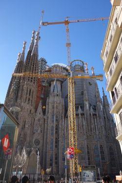 Barcelona Church Famous Place Gaudi International Landmark Sagrada Familia