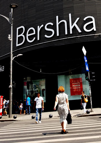 Bucharest, Romania - July 20, 2017: View with pedestrian crossing from the Bershka shop located in Unirea Shopping Center, in Unirii Square, Bucharest, Romania. July 20, 2017 Bucharest, Romania Bucureşti Busy City Crosswalk Road Walk Bershka Crossing Crowd Inditex Lifestyles Outdoors Outdoors Photograpghy  Pedestrian Pedestrians People Shop Shopping Mall Street Street Photography Urban Urban Skyline Vibrant Color Walking