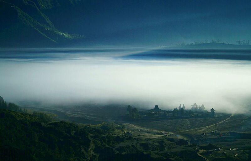 Misty morning Bromo Indonesia Landscape Nature Bromo Mountain INDONESIA Morning Light Fog Misty Travel Photography Eyem Gallery Sunrise