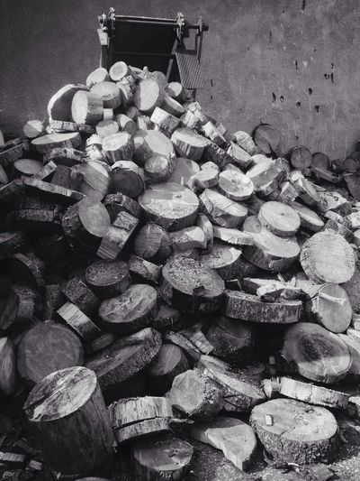 233/365 August 21 One Year Project 2017 Wood - Material Cut Black And White Large Group Of Objects Stack Abundance Heap No People Outdoors Close-up Industry Day