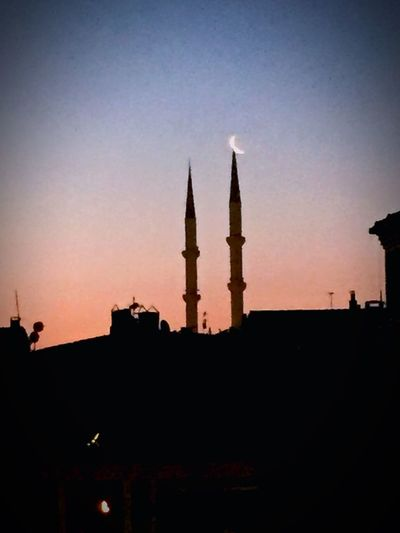 Moon Mosque City Sunset The Week Of Eyeem EyeEm Best Shots Light Istanbul Turkey Sky Collection