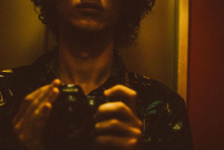 Casual Clothing Close-up Dark Focus On Foreground Headshot Illuminated Leisure Activity Lifestyles Portrait Selective Focus
