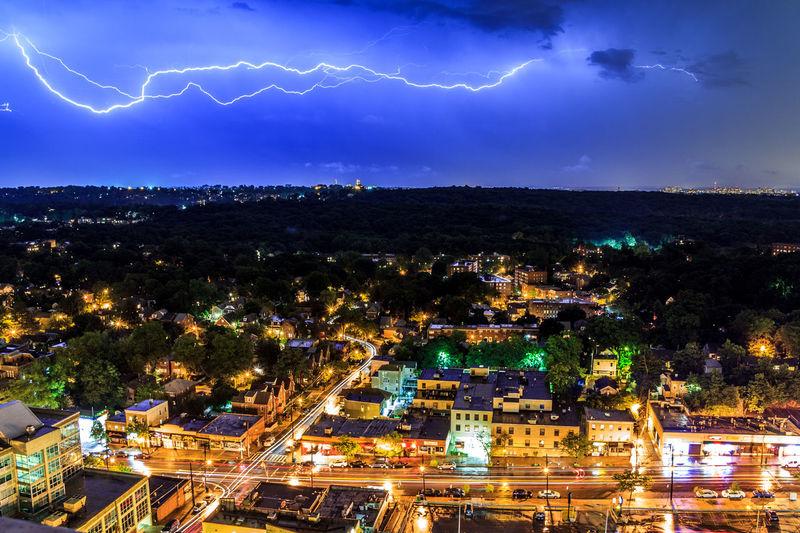 Lightning Strikes New York City Car Trails Cartrails Dramatic Sky Lightning Lightning Bolt Lightning Strikes Mothernature Nightphotography Sky Storm Street Thunder