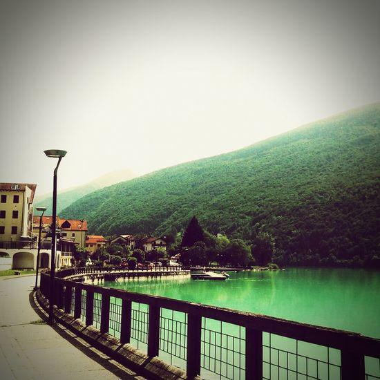 lago di Barcis (Pordenone) Italy Lago Barcis Barcis Lake, Italy Water Tree Sky