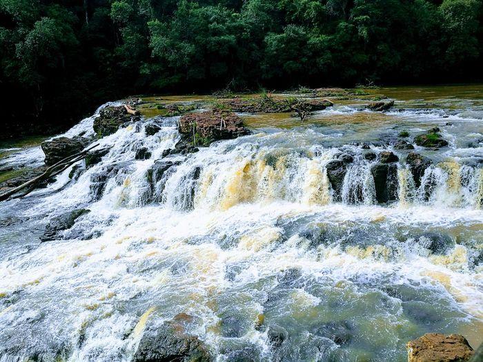 salto de capiovy Flowing Water Waterfall Falling Water Natural Landmark Woods Growing Splashing