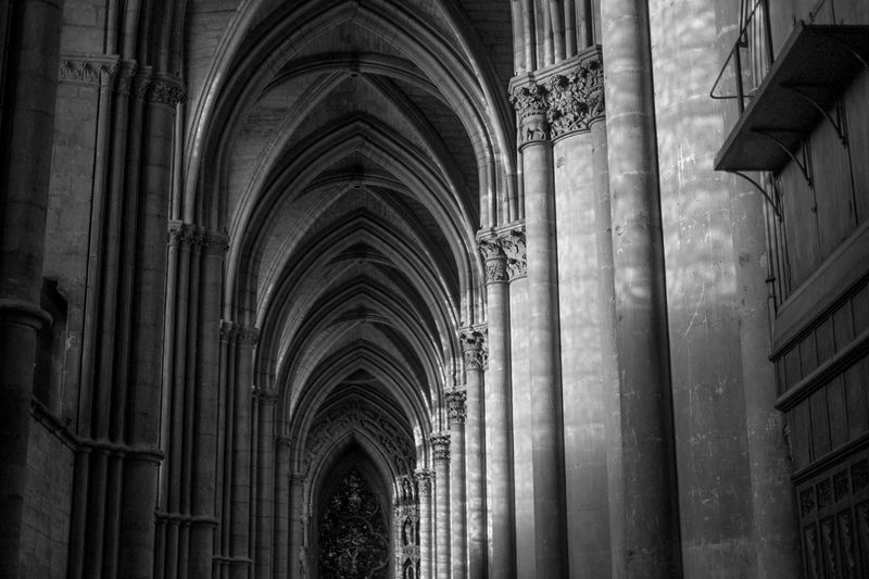 Arch Architecture Built Structure Cathedral Gothic History Indoors  No People Place Of Worship Religion Spirituality Travel Destinations