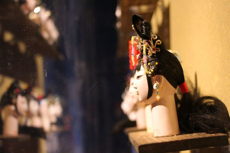 Figurines at peking opera