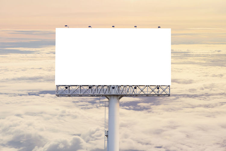 Advertisement Beauty In Nature Billboard Blank Cloud - Sky Communication Copy Space Day Geometric Shape Information Information Sign Message Nature No People Outdoors Placard Sea Sign Sky Sport White Color