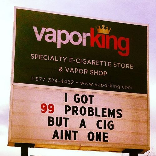 Got a little thug with the new sign today VapeLife Vaporking Ecig Vapor vaporlounge vape vaporparlor @vaporkingusa