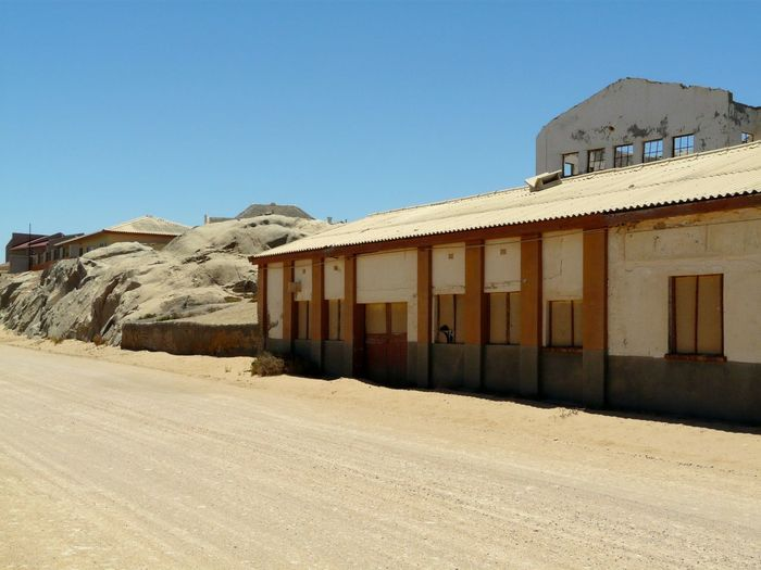 Abandoned built structures in the desert
