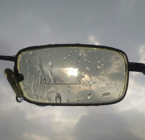 Water Reflection Wet Fragility Sky No People Gray Background Close-up Day Nature Vehicle Mirror Outdoors