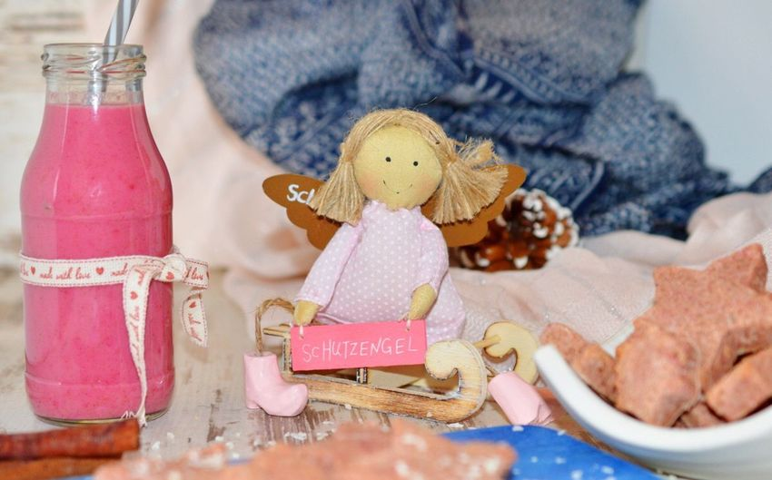 Pitaya milk 🍼 Food And Drink Celebration Indoors  Drink Table Close-up Ribbon - Sewing Item No People Food Stuffed Toy Christmas Decoration Day Ready-to-eat Healthy Eating Milk Fruitporn Pitaya Healthy Lifestyle Healthydrink Drinks Vegan Homemade Food Foodphotography Foodblogger