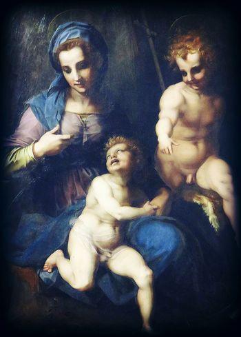 Madonna Col Bambino E San GiovanninoAndrea Del Sarto EyeEm Best Shots EyeEm Gallery Eyeemphotography Italy❤️ Rome Italy Italia Art Arte Roma Pittura Galleria Borghese