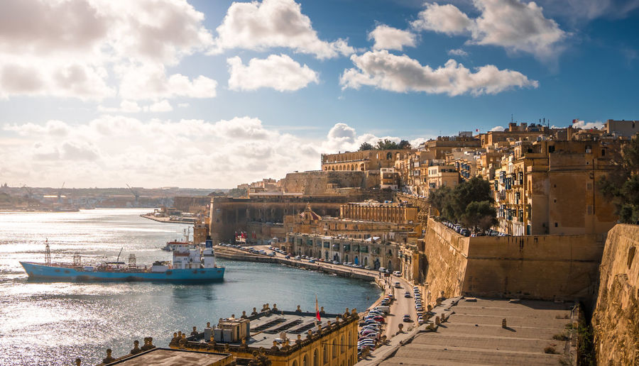 Valletta, Malta, coastal fort city Water Architecture Pier Harbor City Travel Port Ship Sea Transportation Nautical Vessel Malta Maltaphotography Valletta Valletta,Malta Valletta Architecture Coastline Coastal Coast Mediterranean  Outdoors Day Capital