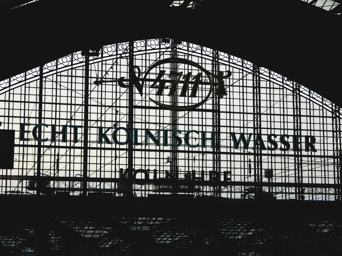 Cologne , Köln,  Train Station 4711 - Kölnisch Wasser Architecture Built Structure Silhouette Day Indoors  No People